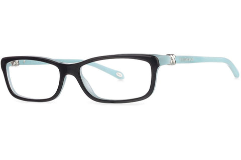 Tiffany TF2036 8055 Eyeglasses, Black/Aqua Frame, Clear 54mm Lenses