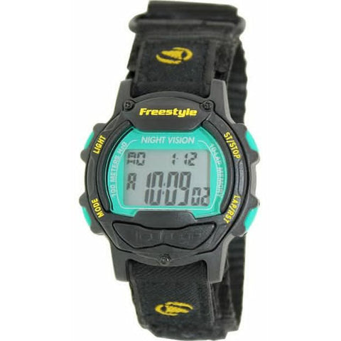 Freestyle Unisex 10019180 Predator Green/Black Digital Watch, Black Nylon Band, Round 41mm Case