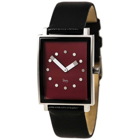 Projects 9709 Shenandoah Analog Display Quartz Watch, Black Leather Band, Rectangle 27mm Case