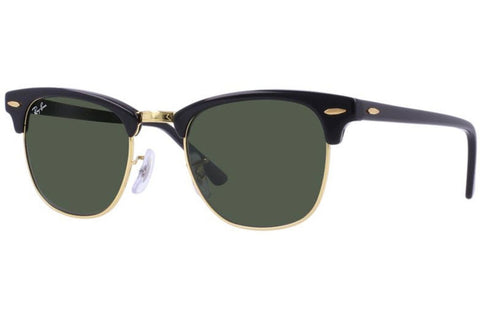 Ray-Ban RB3016 W0365 Clubmaster Classic Sunglasses, Black Frame, Green 49mm Lenses