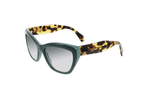 Prada 0PR 02QS TFO1E0 Cat Eye Sunglasses, Opal Green Frame, Green Gradient 56mm Lenses
