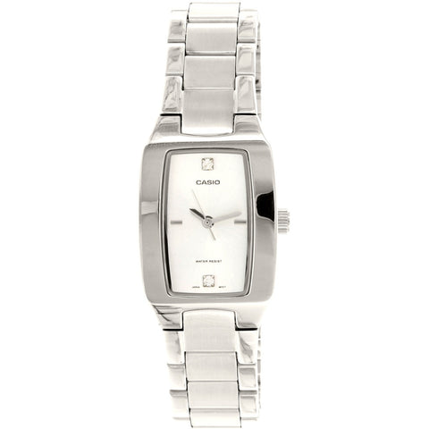 Casio LTP1165A-7C2 Women's Analog Display Quartz Watch, Silver Stainless Steel Band, Rectangle 21mm Case