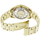 Kenneth Cole KC4853 Women's Transparent Analog Display Quartz Watch, Gold Stainless Steel Band, Round 40mm Case