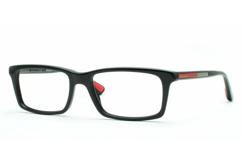 Prada PS02CV-1BO1O1 Linea Rossa Eyeglasses, Matte Black Frame, Clear 55mm Lenses