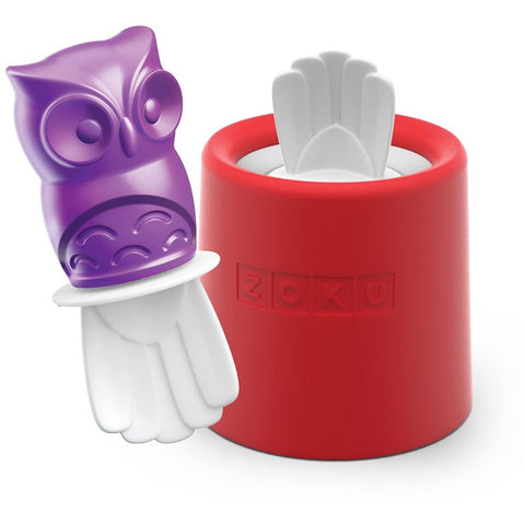 Zoku ZK123-014 Character Pop Owls Mold, Purple