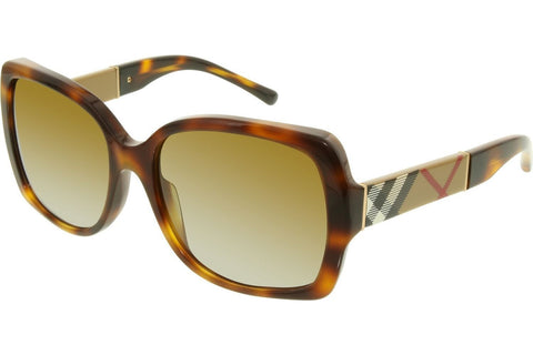 Burberry BE4160-3316-T5 Women's Sunglasses, Light Havana Frame, Brown Polarized 58mm Lenses