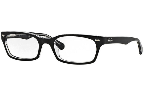 Ray-Ban RX5150 2034 Eyeglasses, Black Frame, Clear 50mm Lenses