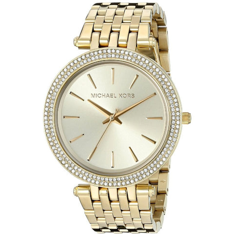 Michael Kors MK3191 Darci Analog Display Quartz Watch, Gold Stainless Steel Band, Round 39mm Case