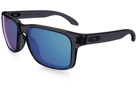 Oakley OO9102 47 Holbrook Sunglasses, Crystal Black Frame, Ice Iridium 55mm Lenses
