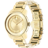 Movado 3600323 Bold Analog Display Quartz Watch, Yellow Gold Ion-Plated Stainless Steel Band, Round 32mm Case