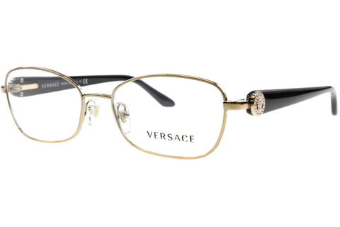 Versace VE 1210BM 1252, Pale Gold Frame, Clear 52mm Lenses