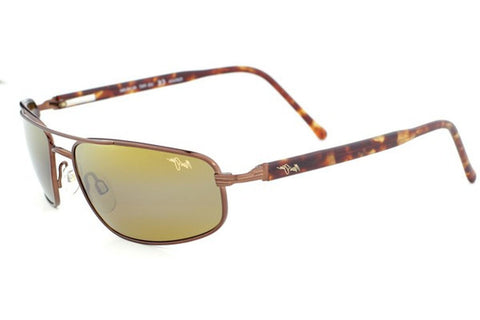 Maui Jim H162-23 Kahuna Sunglasses, Metallic Gloss Copper Frame, HCL Bronze Polarized 59mm Lenses