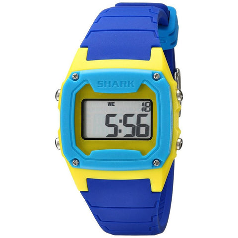 Freestyle Unisex 101806 Shark Classic Digital Watch, Blue Silicone Band, Square 37mm Case