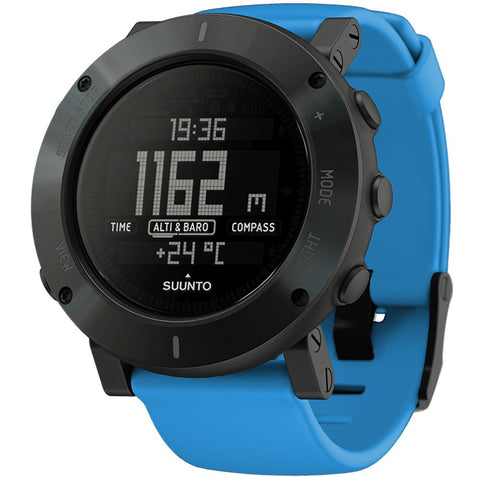 Suunto SS021373000 Core Blue Crush Digital Display Quartz Watch, Blue Silicone Band, Round 49.1mm Case