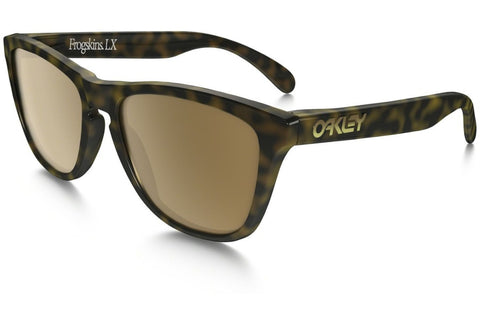 Oakley OO2043-06 Frogskins LX Sunglasses, Dark Tortoise Brown Frame, Dark Bronze 56mm Lenses
