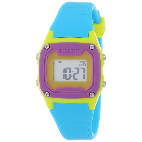Freestyle Unisex 102274 Shark Classic Mini Digital Watch, Blue Silicone Band, Square 30mm Case