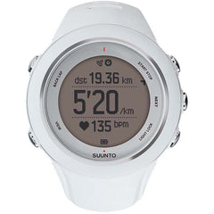 Suunto SS020680000 Ambit3 Sport White (HR) Digital Display Quartz Watch, White Silicone Band, Round 50mm Case