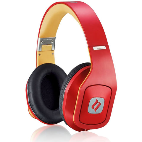 Noontec Hammo S Hi-Fi Over-Ear Headphone, Red