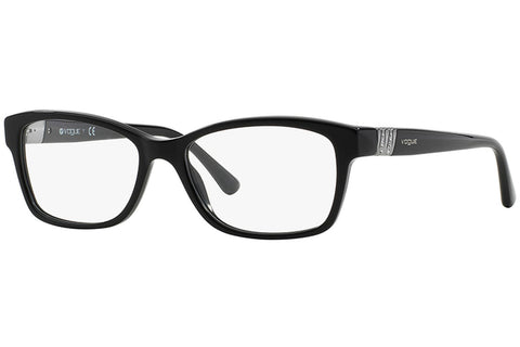 Vogue VO2765B W44 Eyeglasses, Black Frame, Clear 53mm Lenses