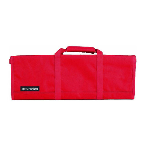 Messermeister 2066-12R 12-Pocket Padded Knife Roll, Red