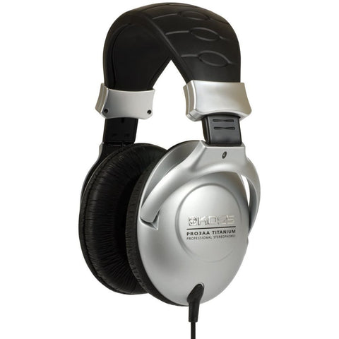 Koss PRO3AA Titanium Professional Headphones, Over-Ear, 15-20,000 Hz Frequency Response, 60 Ohms Impedance