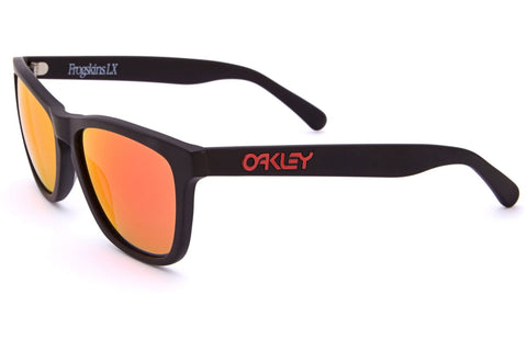 Oakley OO2043-02 Frogskins LX Sunglasses, Matte Black Frame, Ruby Iridium 56mm Lenses
