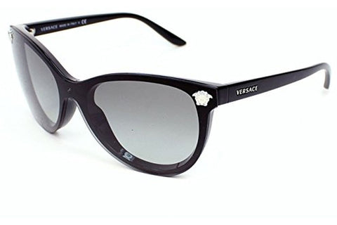 Versace VE4266 GB1/11 Sunglasses, Black Frame, Gray Gradient 41mm Lenses