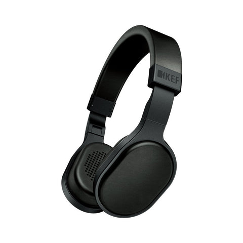 KEF M500 Hi-Fi On-Ear Headphones, Black