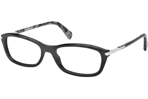 Prada PR04PV 1AB1O1 Eyeglasses, Black Frame, Clear 54mm Lenses