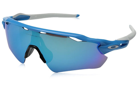 Oakley OO9208-03 Men's Radar EV Path Sunglasses, Sky-Blue Frame, Sapphire Iridium 38mm Lenses