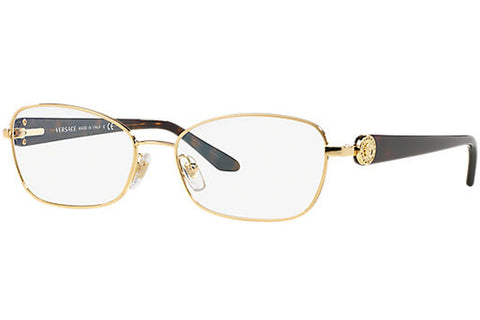 Versace VE 1210BM 1002 Eyeglasses, Gold Frame, Clear 52mm Lenses