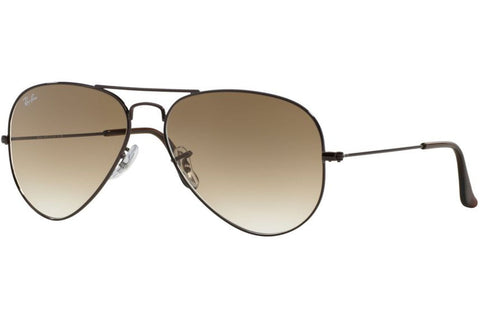 Ray-Ban RB3025 014/15 Aviator Gradient Sunglasses, Bronze Frame, Brown Gradient 58mm Lenses