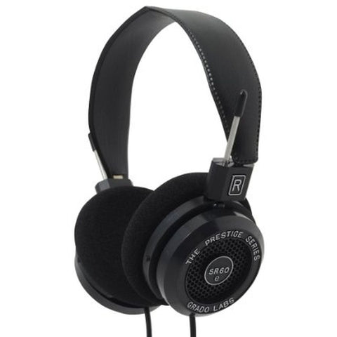 Grado SR60e Prestige Series Headphones, Dynamic Open Air, 20-20,000Hz Frequency Response, 32Ohms Impedance