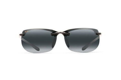Maui Jim 412-02 Banyans Sunglasses, Gloss Black Frame, Neutral Grey Polarized 70mm Lenses