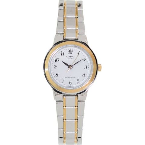 Casio LTP-1131G-7BRDF Women's Easy Reader Analog Display Quartz Watch, Two-Toned Stainless Steel Band, Round 27mm Case