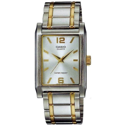Casio LTP-1235SG-7ADF Women's Analog Display Quartz Watch, Two-Toned Stainless Steel Band, Rectangle 30mm Case
