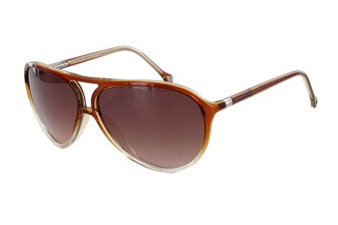 Ermenegildo Zegna SZ3513E 08YK Sunglasses, Brown Crystal Frame, Brown 62mm Lenses