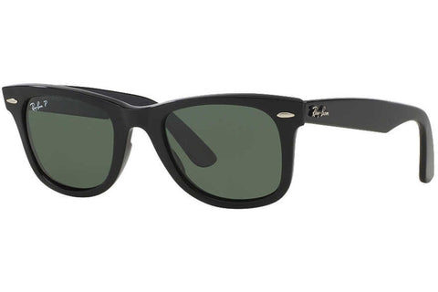 Ray-Ban RB2140 901/58 Original Wayfarer Classic Sunglasses, Black Frame, Polarized Green 50mm Lenses