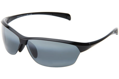 Maui Jim 426-02 Hot Sands Sunglasses, Gloss Black Frame, Polarized Neutral Gray 71mm Lenses