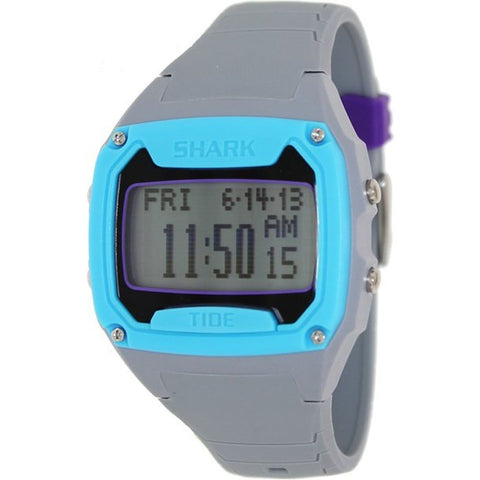 Freestyle Men's 101999 Classic XL Tide Cyan Digital Watch, Grey Silicone Band, Rectangle 45mm Case