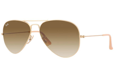 Ray-Ban RB3025 112/85 55 Aviator Gradient Sunglasses, Gold Frame, Brown Gradient 55mm Lenses