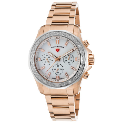 Swiss Legend SL-16201SM-RG-22-SB Islander Women's Analog Display Quartz Watch, Rose Gold Stainless Steel Band, Round 40mm Case
