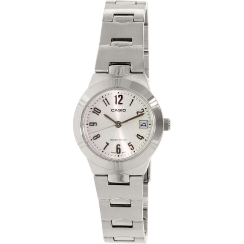 Casio LTP1241D-7A2D Women's Analog Display Quartz Watch, Silver Stainless Steel Band, Round 25mm Case