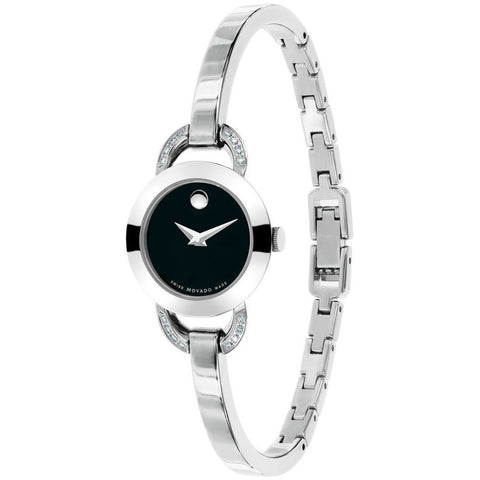Movado 0606798 Rondiro Analog Display Quartz Watch, Silver Stainless Steel Band, Round 22mm Case