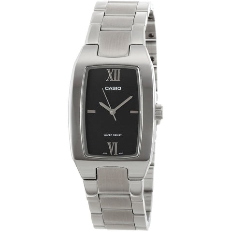 Casio MTP-1165A-1C2DF Men's Metal Fashion Analog Display Quartz Watch, Silver Stainless Steel Band, Rectangular 27mm Case