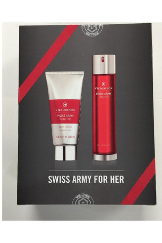 Swiss Army 2 Pcs Set For Women: 3.4 Edt Sp + 3.4 Body Lotion