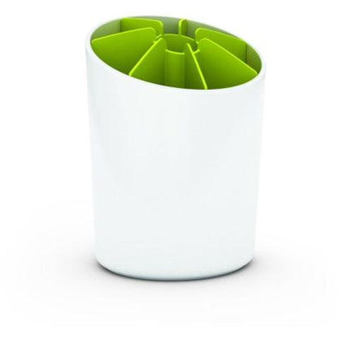 Joseph Joseph 85031 Segment Utensil Pot with Dividers, White/Green