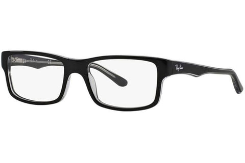 Ray-Ban RX5245 2034 Eyeglasses, Black/Transparent Frame, Clear 54mm Lenses