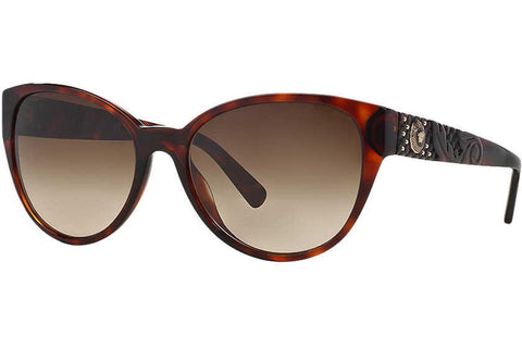 Versace VE4272 879/13 Sunglasses, Tortoise Frame, Brown Gradient 58mm Lenses