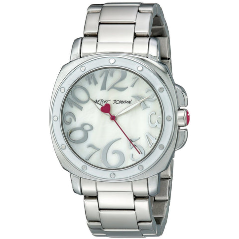 Betsey Johnson BJ00202-04 Women's Analog Display Quartz Watch - Silver Bracelet - Round 39mm Case
